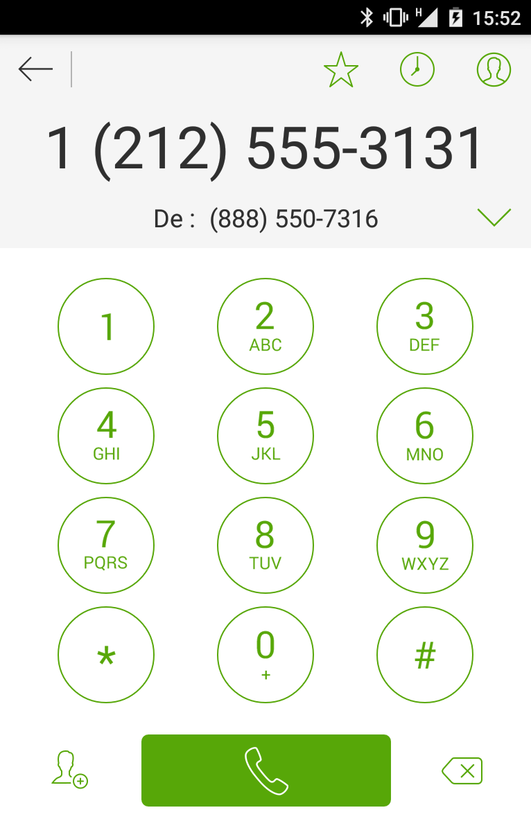 Calling dialpad