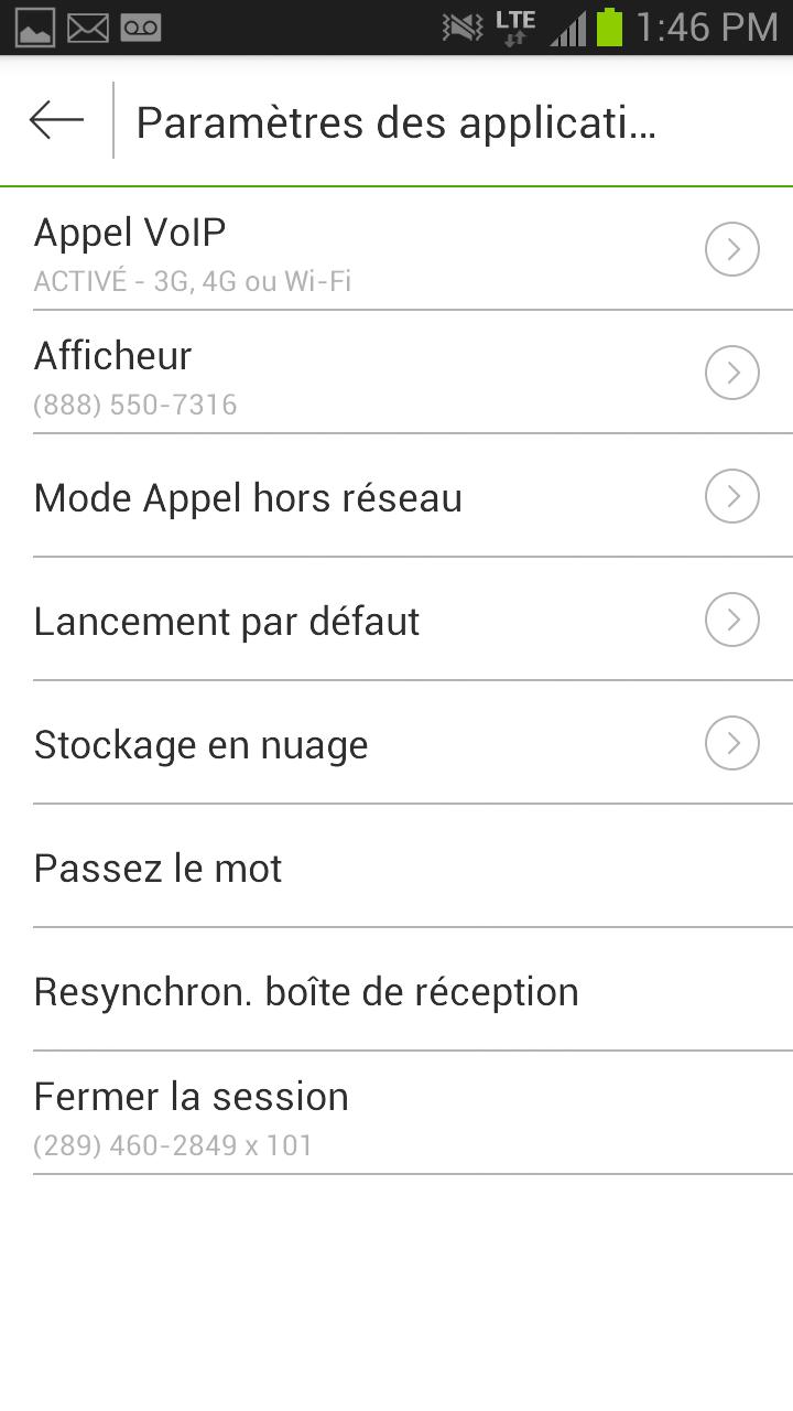 My Mobile App Settings
