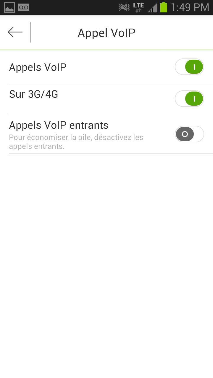 VoIP Calling Settings