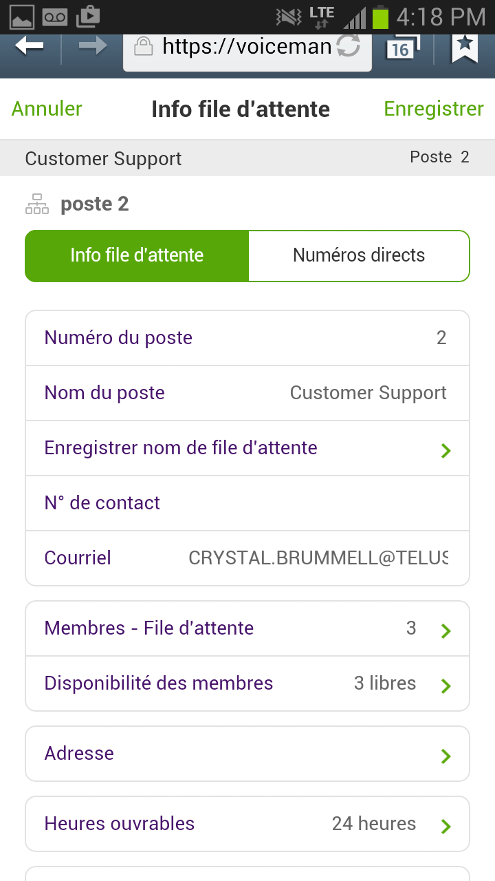 Call Queue Info