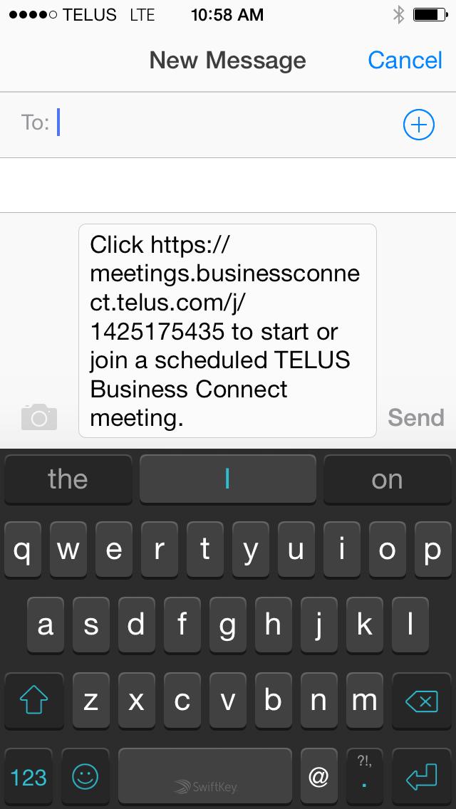 Send message