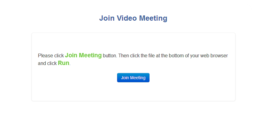 Join video meeting