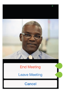 End meeting – iPhone