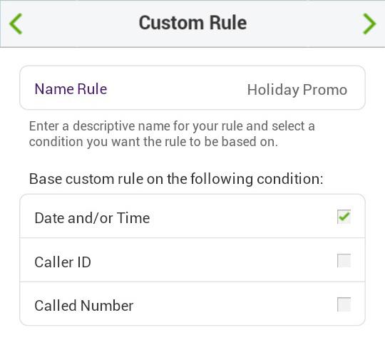 Call Queue Call Handling Custom Rule