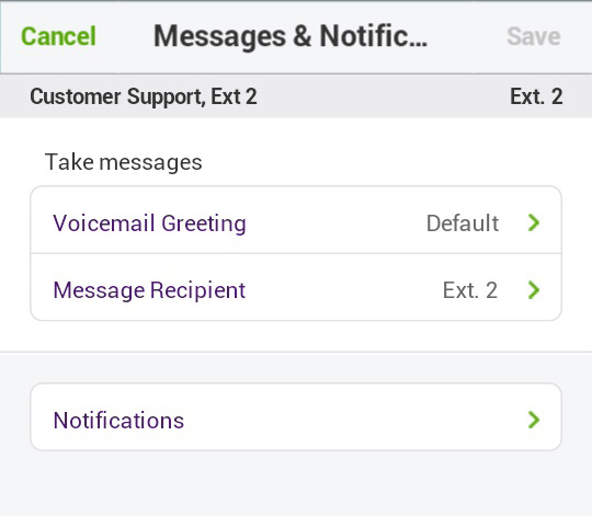 Call Queue Messages and Notifications