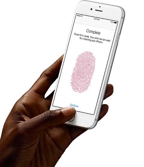 Touch ID - Advanced Security. Right at your fingertip.
