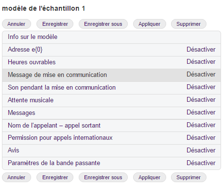 Configurer le Connecting Message (Message pendant la mise en communication)