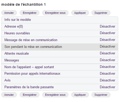 Configurer le son pendant la mise en communication