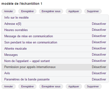 Configurer les permissions d'appels internationaux