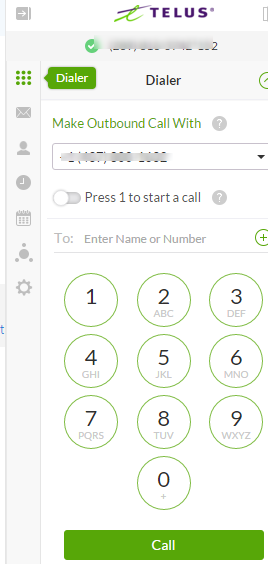Checking the Call Log on TELUS Business Connect for Office 365