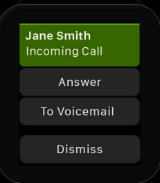 Action when an incoming call arrives