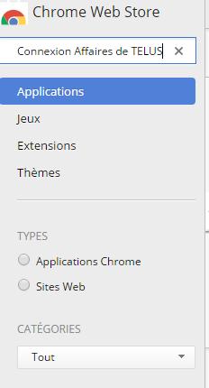 Installer l'extension Chrome Connexion Affaires de TELUS pour Office 365