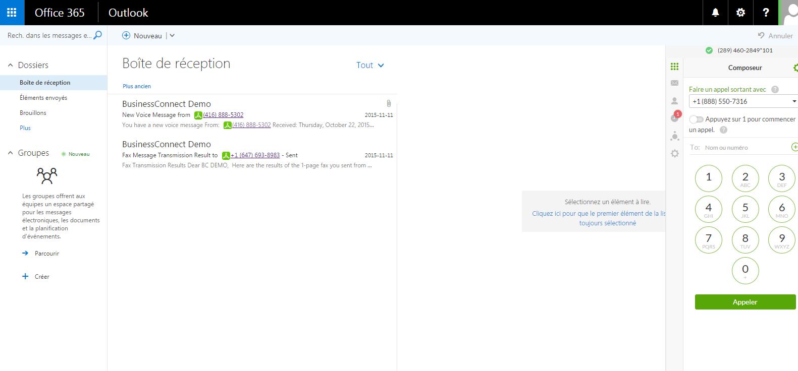 Intégration à Office 365