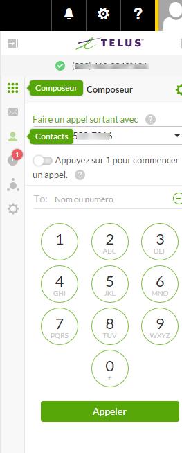 Parcourir vos contacts dans Connexion Affaires de TELUS pour Office 365
