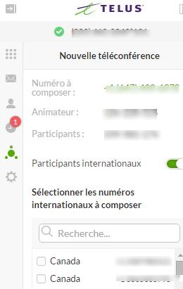 Planifier une téléconférence Connexion Affaires de TELUS dans Connexion Affaires de TELUS pour Office 365