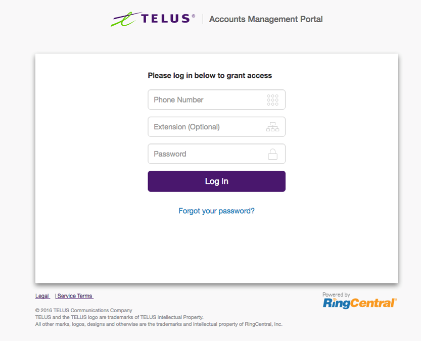 Multiple Account Access for TELUS Business Connect | Help