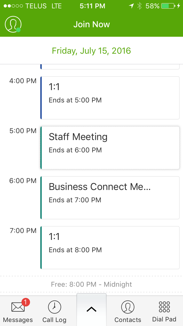 TELUS Business Connect Join Now Feature Google Calendar Integration