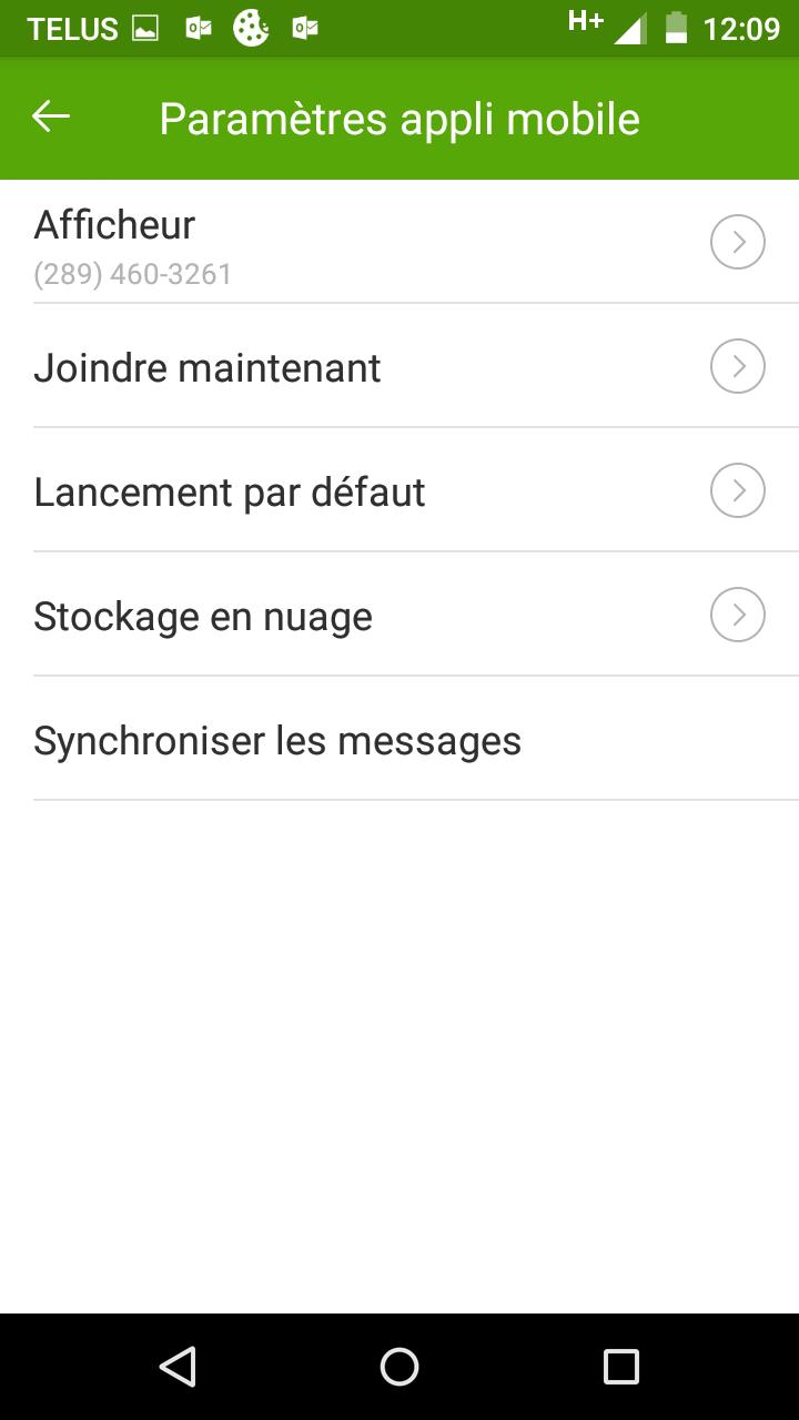 Intégration à Google Agenda d'une fonction de l'application mobile Connexion Affaires de TELUS