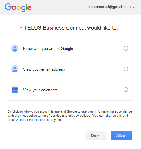 TELUS Business Connect for Desktop App Join Now feature Google Calendar Integration