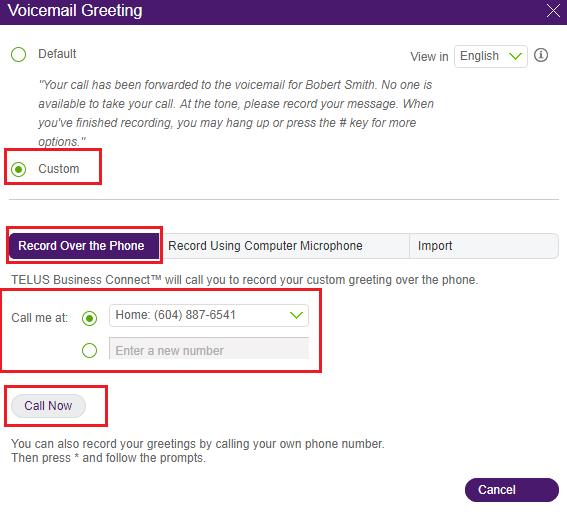 Setting up a custom voicemail greeting on a user extension help after which you will be given instructions for recording your custom voicemail greeting click save when you are finished recording m4hsunfo