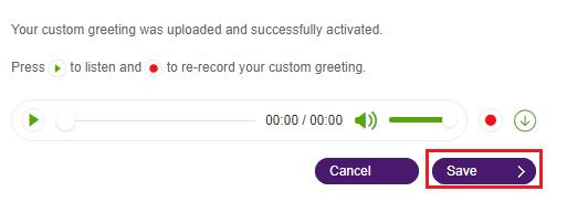 Setting up a custom voicemail greeting on a user extension help note click play m4hsunfo